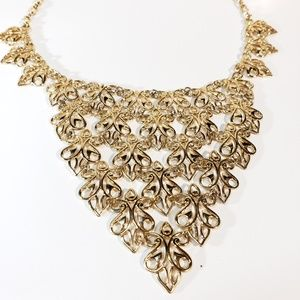 Vendome Gold Plated Bib Necklace by Susan Caplan